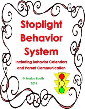 Stoplight Behavior Resources - Complete with Parent Communication and Behavior Calendar Options! Reflection for Students and Documentation for Teachers!