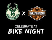 Bucks Bike Night Join us at Bike Night Enjoy all the normal Bike Night festivities, including live music, along with a special program at 7pm CT to celebrate our new partnership. Be sure to stick around for the fireworks display at the end of the night!