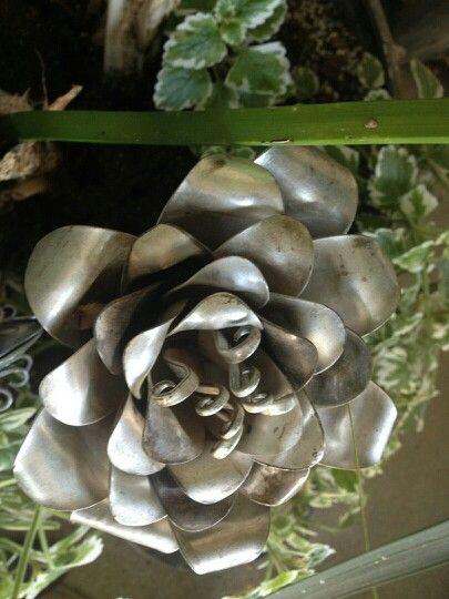 Silverware art - Spoon art flower