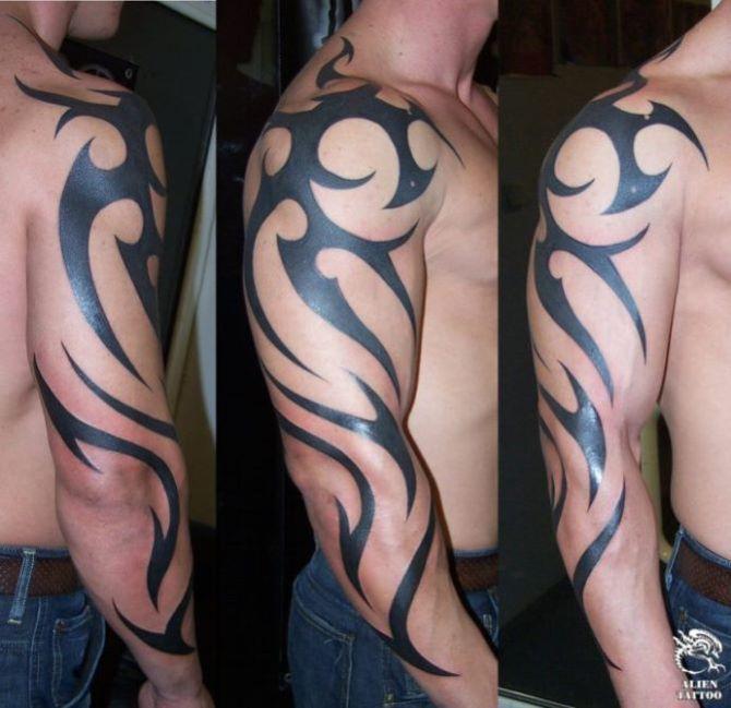 13 Tattoo Tribal Arm Sleeve