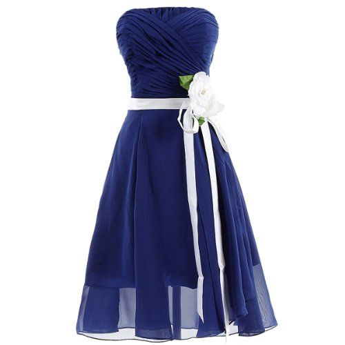 Dresstells Strapless Chiffon Prom Dress Short Bridesmaid Party Evening Gown for Juniors with Handmade Flower Size 10 Royal Blue Dresstells http://www.amazon.co.uk/dp/B00DB3Y53G/ref=cm_sw_r_pi_dp_suMgvb0H71BDF