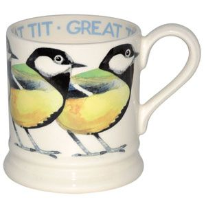 Great Tit mug by Emma Bridgewater. To go in my collection.: Bridgewater Collections, Tit 2012, Bridgewater Birds, Emma Bridgewater, Pints, Tit 1 2, Mugs, 1 2 Pint