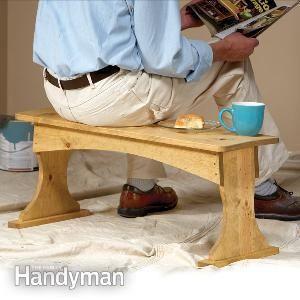 Ah! E se falando em madeira...: banco de serviço