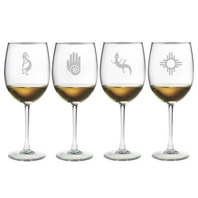 Susquehanna Glass Southwestern Wine Glass