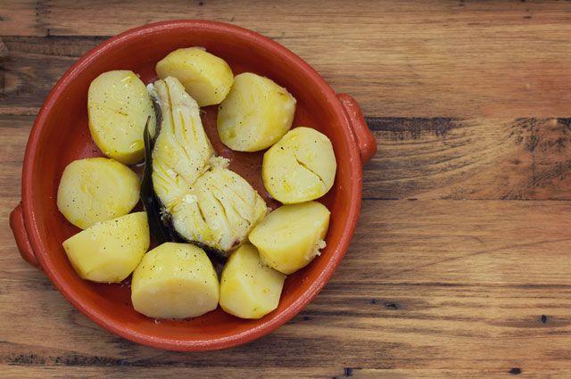 Отварная рыба с картофелем