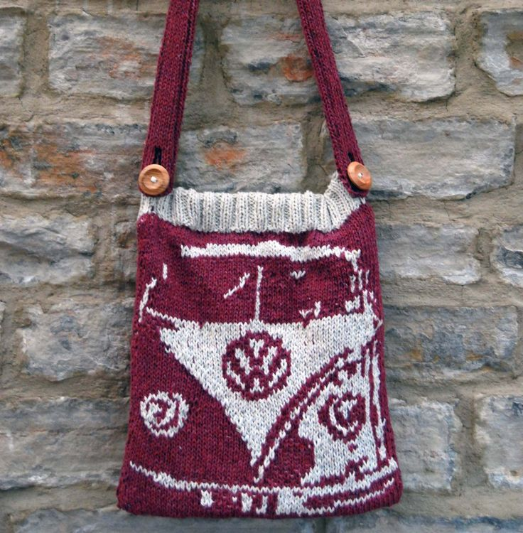 Knit a VW bus bag