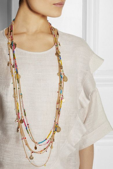 Handmade Gold-dipped brass Multicolored faceted agate beads, hammered gold coins Lobster clasp fastening Comes in a tie-fastening pouch