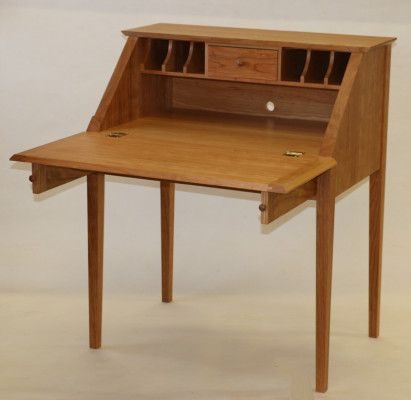 Cherry Slant Front Desk By Richard Bis A Member Of The Guild Vermont Furniture