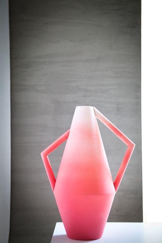 hot pink + white--Kora Vase by Spotti