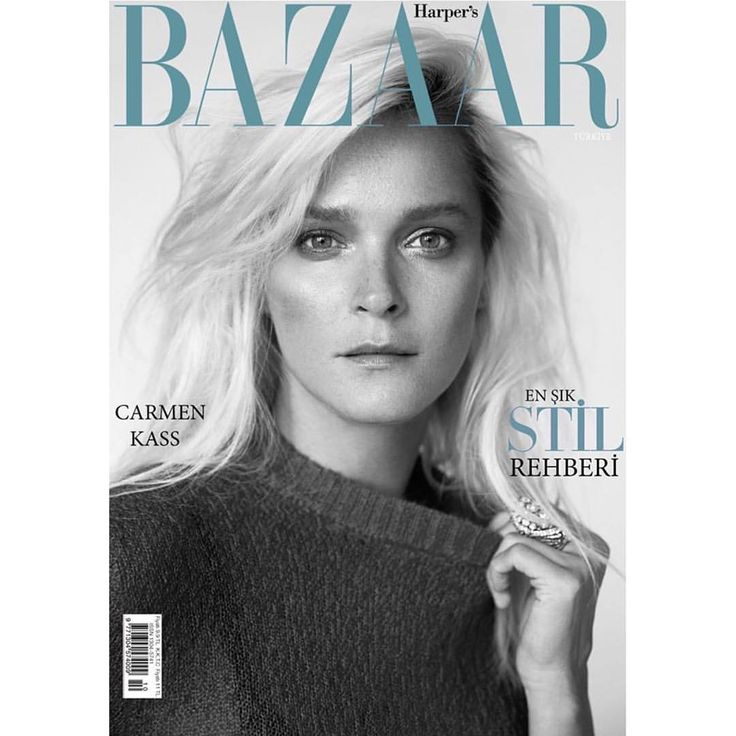 "Carmen Kass on Instagram: ""October 2015 issue cover story @harpersbazaartr shot by @cihanoncu  Styled by @hakanbahar0 Casting by @meganmccluskie1 Hair @nurisekerci Make up @dincomer Manicure #kumagency #harpersbazaar #harpersbazaartr #cihanoncu #CARMENKASS #carmenkass #october2015 #fashion #harpersbazaar #cover"""