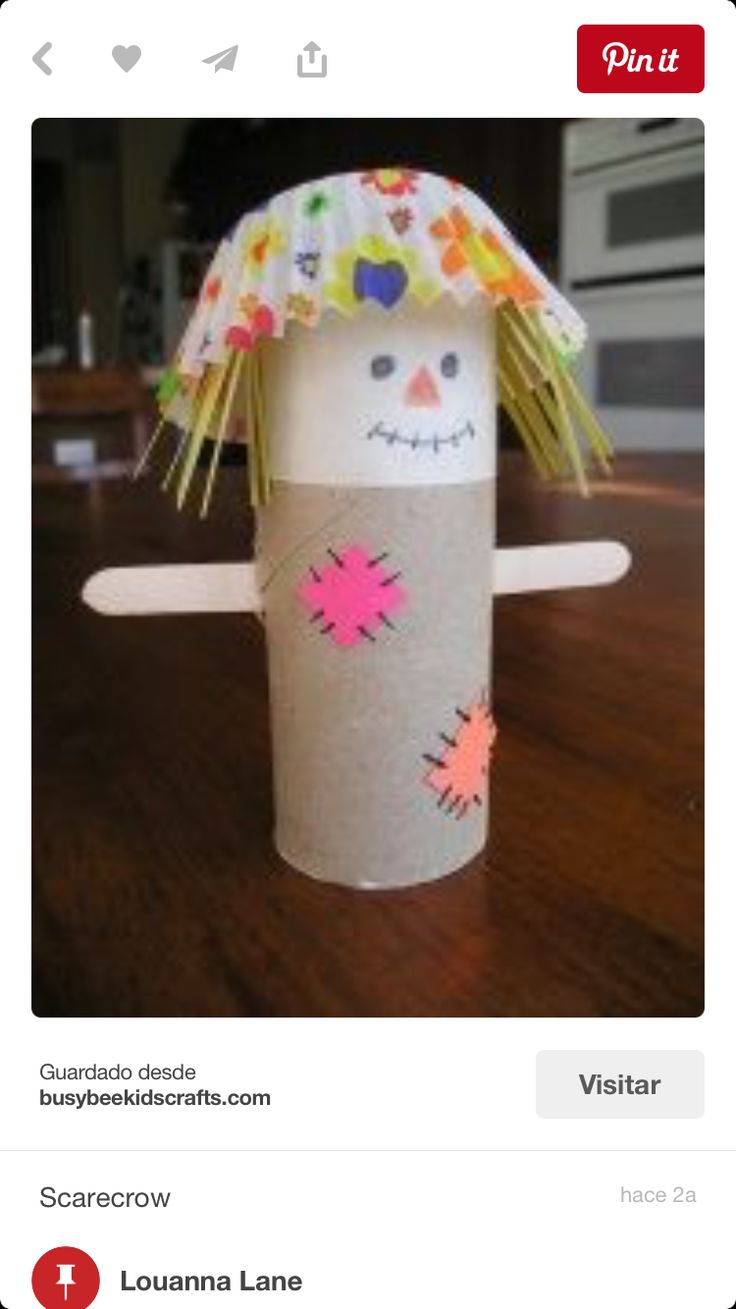 Scarecrow Toilet Paper Roll & Cupcake Liner