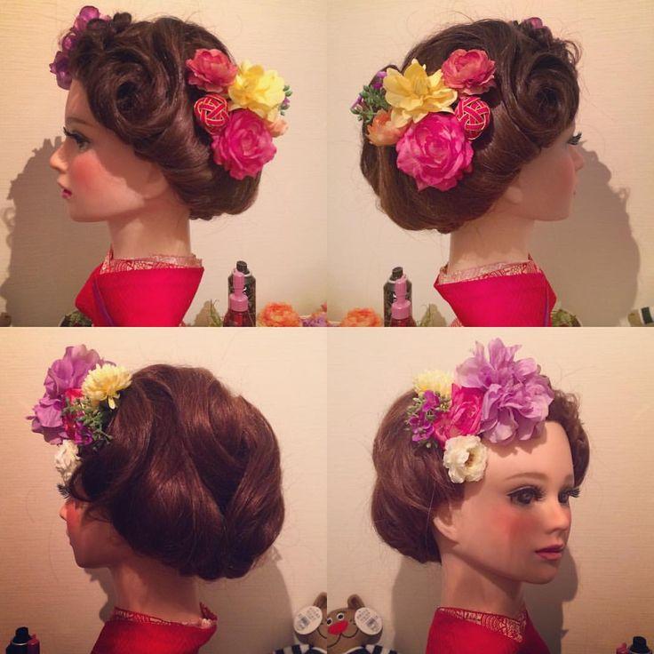 お着物スタイル☺︎ ボブのようなワンロールのような ショートのような☺︎ 見る角度でイメージをかえて☺️ #bridal#BRIDAL#bridalhair#wedding#WEDDING#weddinghair#hairset#hairmake#花嫁#花嫁ヘア#花嫁髪型#ヘアード#ヘアアレンジ#ヘアセット#結婚式#洋装#和装#ドレス#happy#beautiful#美容師#編み込み#アップスタイル#お呼ばれヘア
