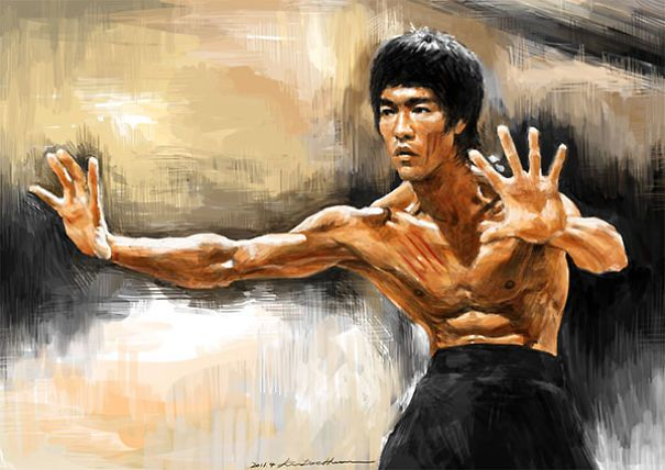 ARTIST: Kim Dae Hwan (digital Painter- South Korea) Bruce Lee  #brucelee75 #Yellowmenace ● http://www.boredpanda.com/art-inspired-by-bruce-lee