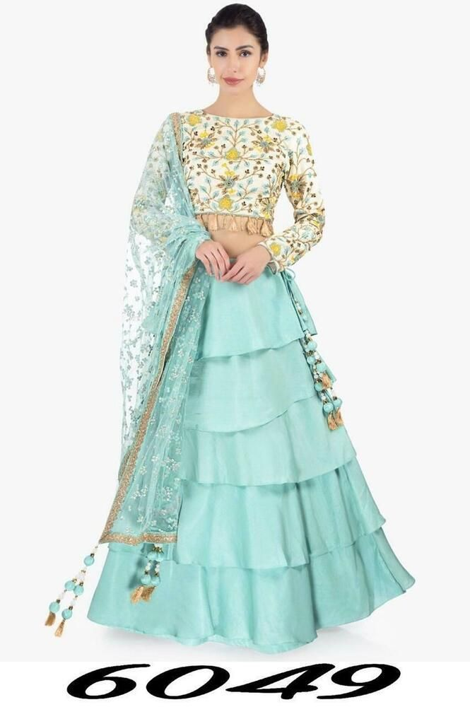 fac652ba09d02 Ruffle Lehenga Chunri Indian Ethnic Wedding Wear Lengha Choli Lahanga Sari   fashion  clothing