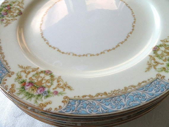Noritake MemoriesofYesterday, | blue & beige wedding