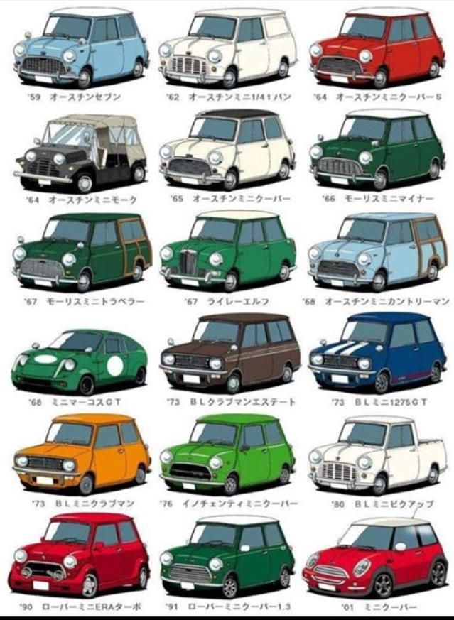 All mini coopers