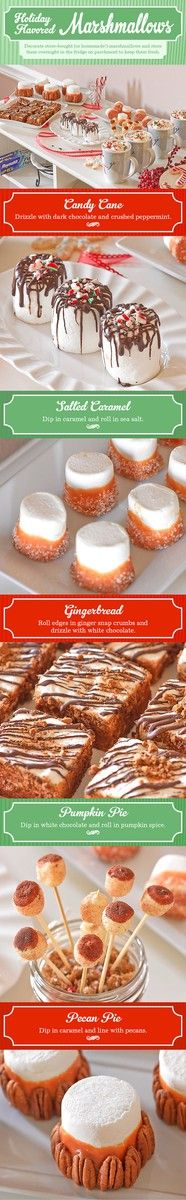Holiday-Flavored Marshmallows! Quick and simple projects that would be fun to do with kids! #recipe #treat #dessert