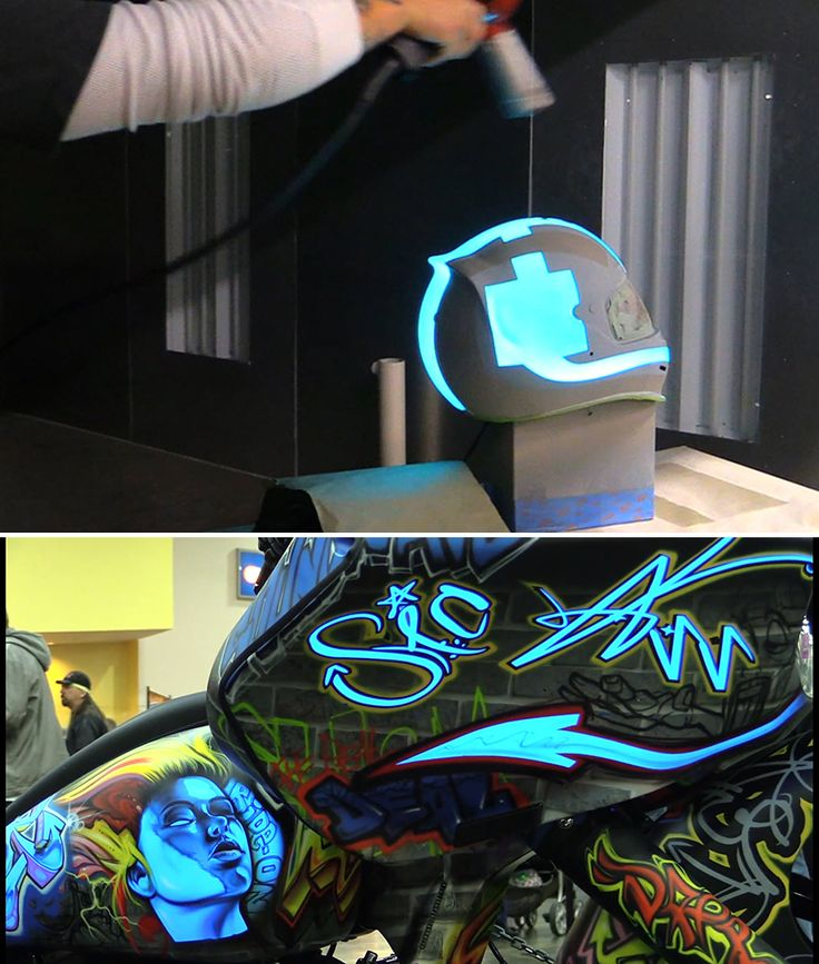 Lumilor luminescent coating developed by darkside for How much to paint a motorcycle