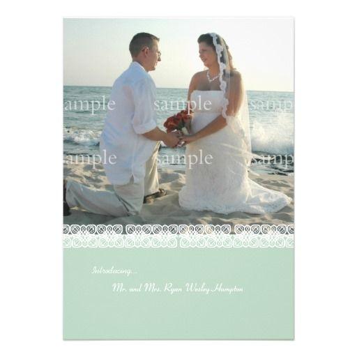 Destination Wedding Reception Ideas: After The Destination Wedding Reception Invitation