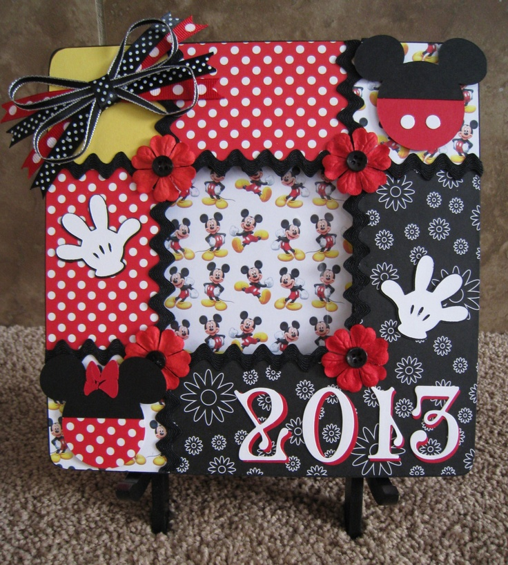 Super cute altered wooden frame idea. Use the Cricut for cutting the embellishments.