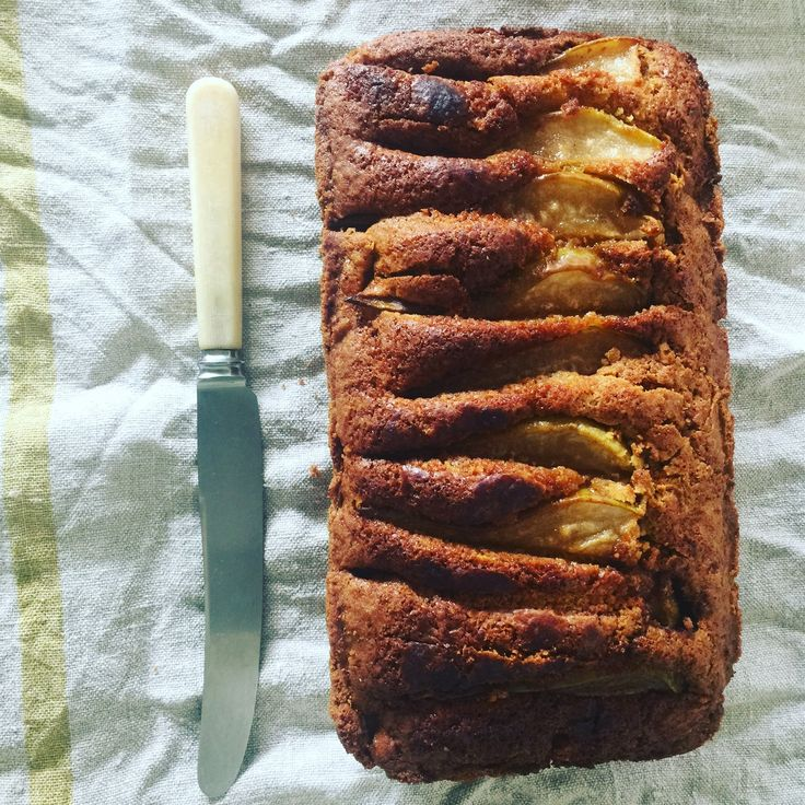 This week I'm sharing my Gluten Free Pear and Fresh Ginger Loaf. I feel slightly smug in telling you I picked the pears from my own pear tree but the truth is the pear tree was in our garden and like most of nature it was just following the natural cycle of the seasons - we could all take a leaf out of natures book :)