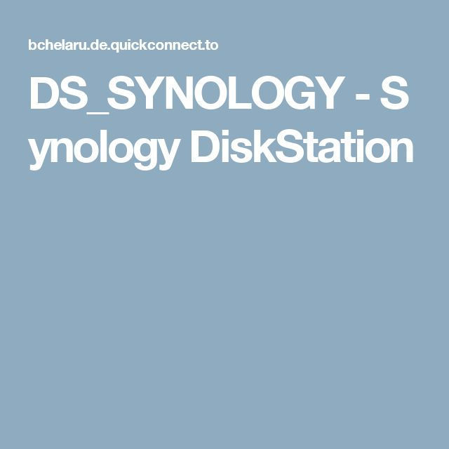 DS_SYNOLOGY - Synology DiskStation