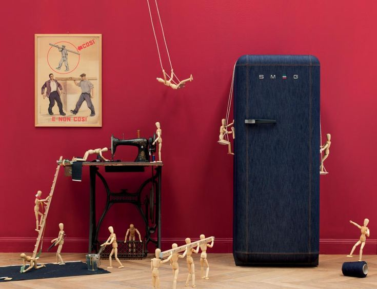 Smeg 1982 special edition fridge! Precious: Refrigerators, Style, Smeg Denim, Denim Refrigerator, Jeans, Denim Fridge, Kitchen, Design