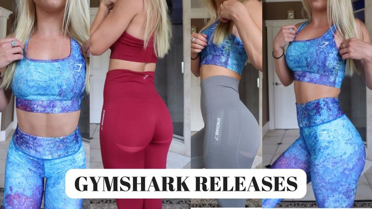 NEW GYMSHARK RELEASES | size guide + try on