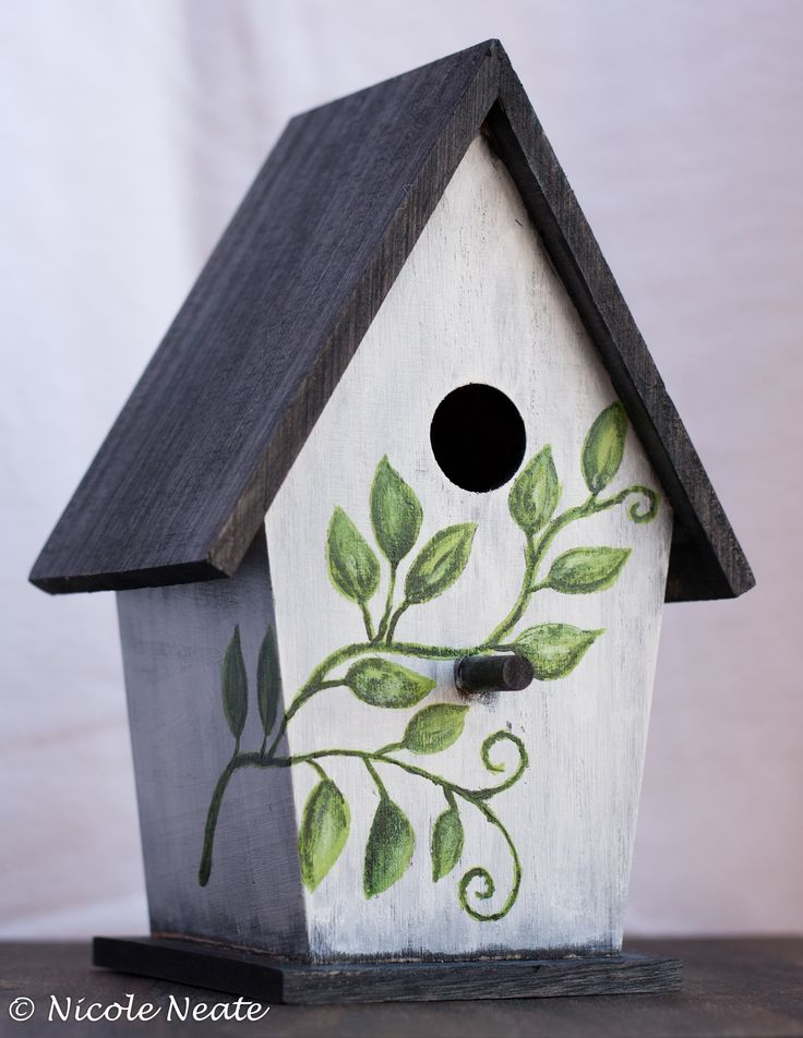 Painted Birdhouse I made for Mother's Day