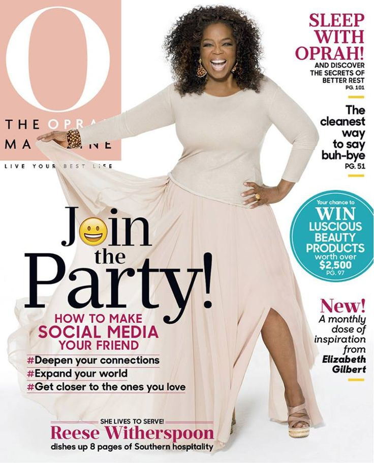 In our May issue, Oprah Winfrey's talking about the incredible power of social media: how it can strengthen our relationships and spark new ones. Plus, we're excited to debut Elizabeth Gilbert and Farnoosh Torabi's new monthly columns—and a fresh new look in our pages!