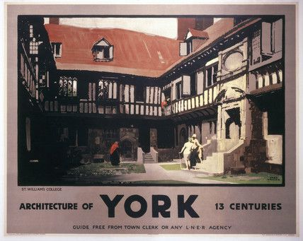 Vintage UK Railway Poster - St William's College, York - LNER