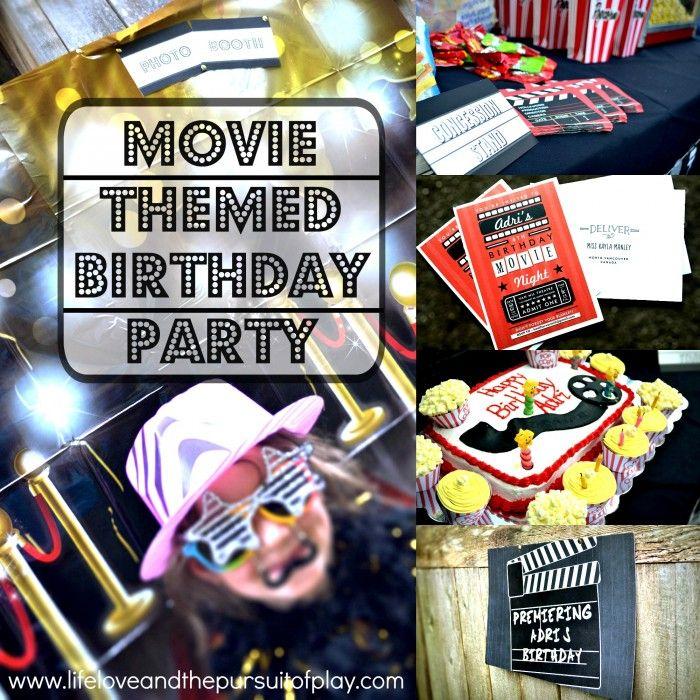 How to host the best Movie Themed Birthday Party! www.lifeloveandthepursuitofplay.com #kidsbirthdaypartyideas