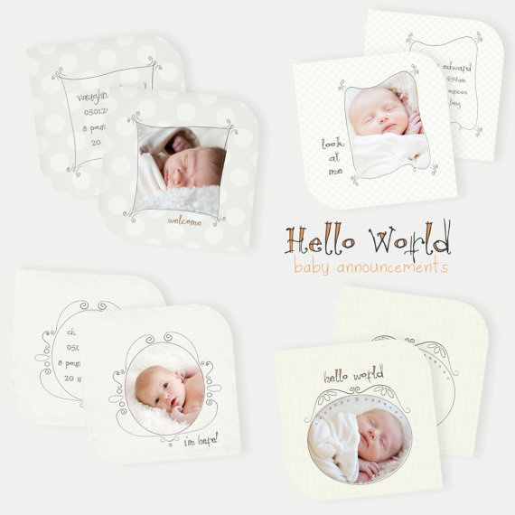 102 best baby birth announcement images – Birth Announcements Etsy