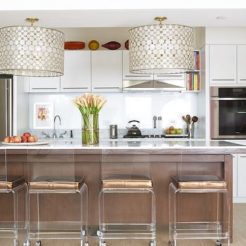 lucite bar stools kitchen amanda nisbet design