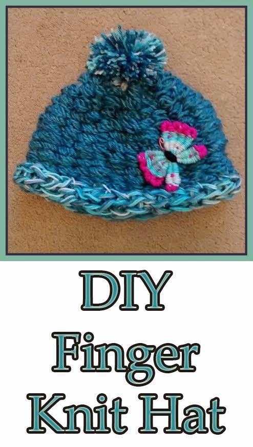 DIY Finger Knit Hat Pattern