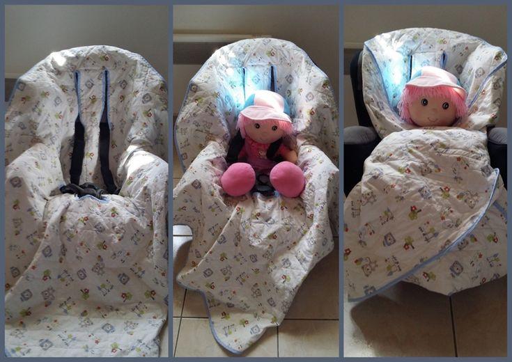 Couverture bébé pour siège auto, poussette, ....