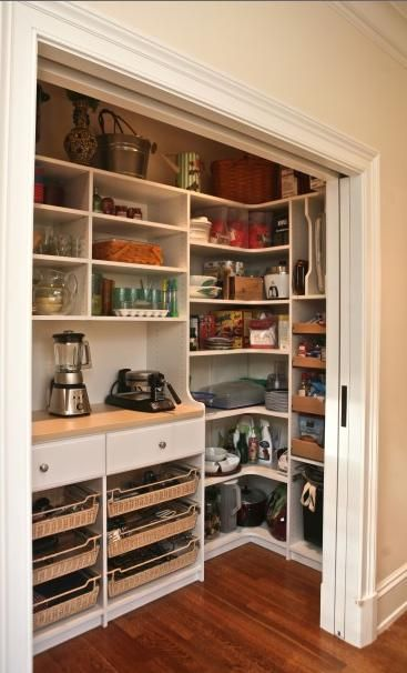 Pantry with appliance storage for easy access