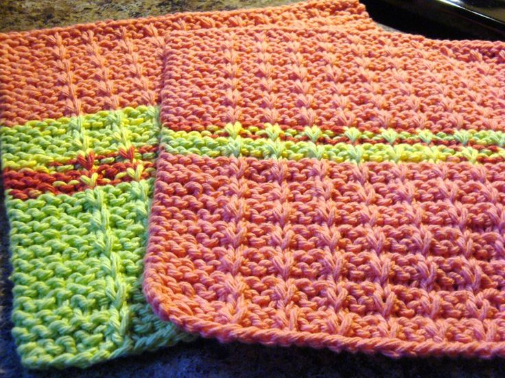 181 Best Knitted Dishcloth Images On Pinterest Knitting Patterns