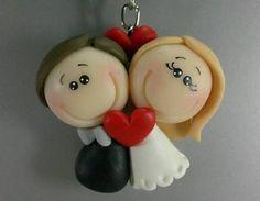 Resultado de imagen para lembrancinhas de casamento em biscuit