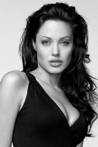 Angelina Jolie...  when she was the face of French fashion brand Louis Vuitton.