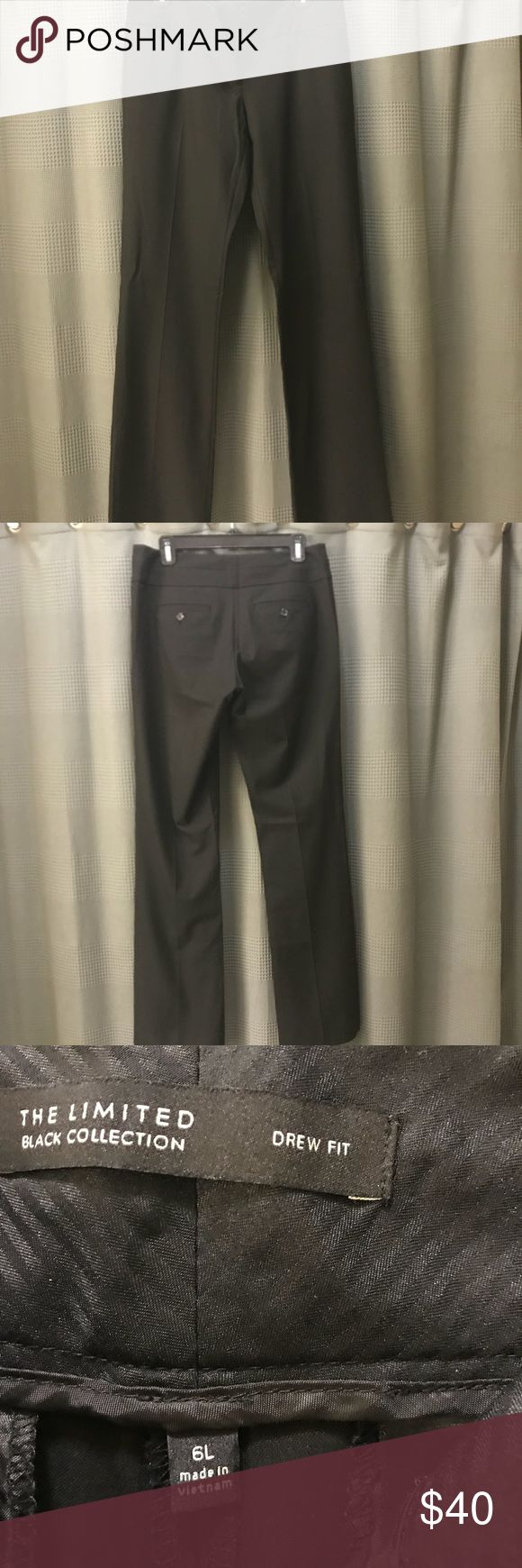 Limited brand lightweight black slacks! This are lightweight and six longs. 34 inch inseam. Worn twice! The Limited Pants Trousers