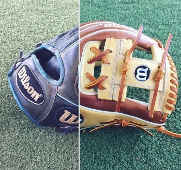 Out with the old. In with the new. Buy your next Wilson baseball glove today with free shipping and a 100 day money back guarantee at JustBallGloves!