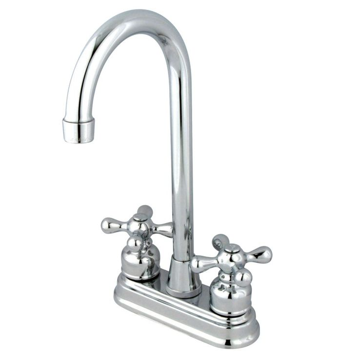 Kingston Brass KB491AX Two Handle Bar Faucet, Polished Chrome - Price: $79.95 & FREE Shipping over $99