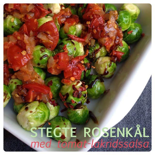 Stegt rosenkål med tomat-lakridssalsa | Vanlose Blues