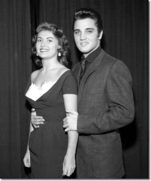 Elvis with Joan Adams was 1957's 'Miss Nevada', and ended second runner-up in that year's Miss USA Pageant.  She had just made a network TV appearance on 'The George Burns and Gracie Allen Show' two weeks earlier.