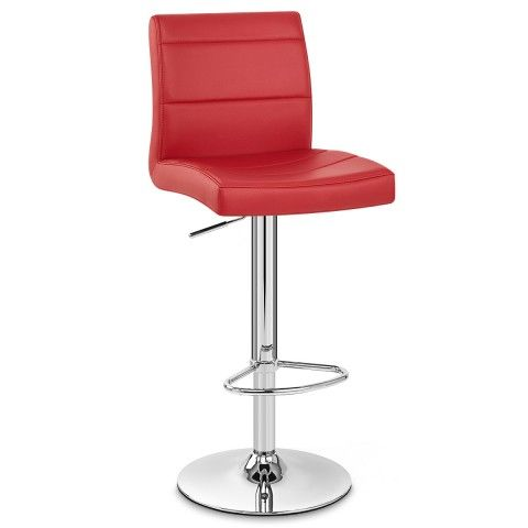 Give your bar area a fresh update with the Chrome Breakfast Bar Stool Red, a vibrant model with modern panache.