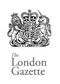 The London Gazette  The London Gazette (and its sister journals the Edinburgh and Belfast Gazettes) provide an official record of the UK government but the primary interest for most people is the bankruptcy records ...