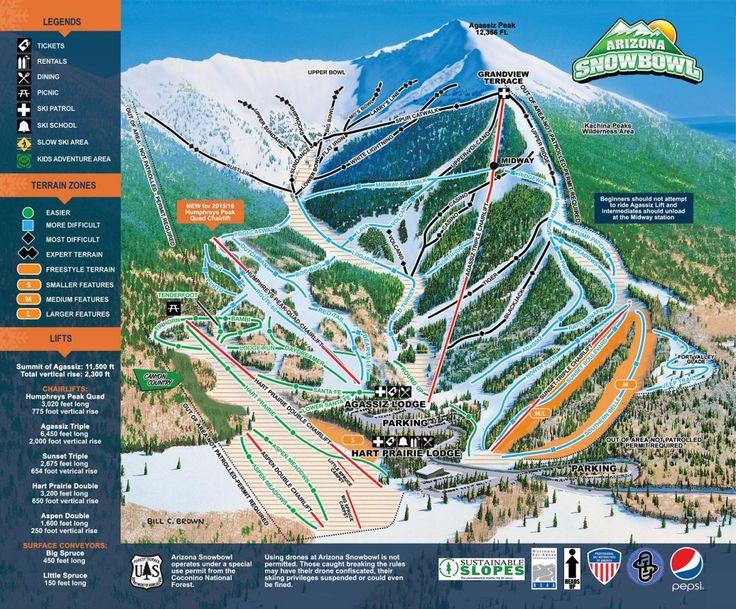 2344f29dd3cda98ad2e460ef2f943635--trail-maps-the-arizona Snowbowl Map on flagstaff ski bowl map, lost trail map, whitefish mountain resort map, flagstaff az map, bridger bowl map, the arizona trail map,