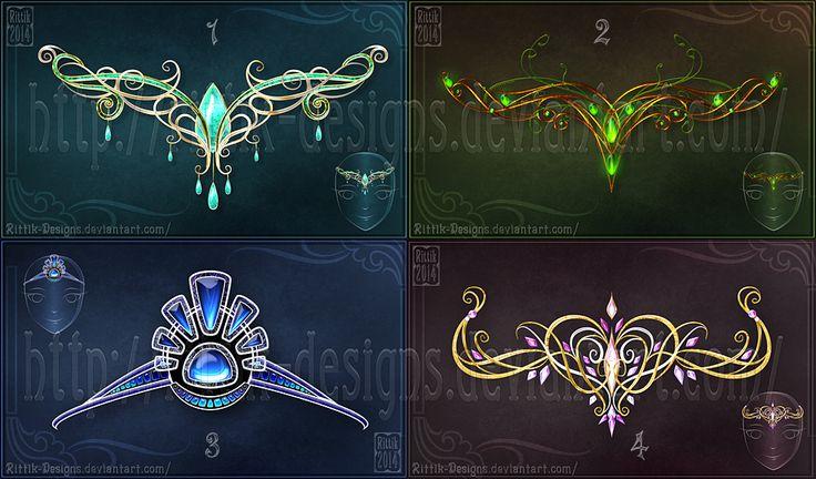 Magic diadems (set 1) by Rittik-Designs on DeviantArt