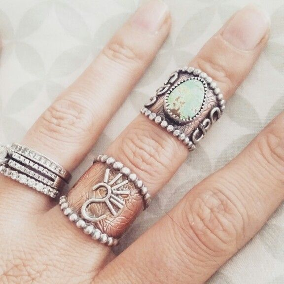 Copper rings by The Classy Trailer On Instagram and FB @theclassytrailer